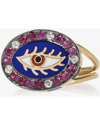 Holly Dyment - 18k Yellow Gold Americana Eye Ring - Lyst