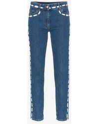 Moschino - Low Rise Painted Seam Detail Jeans - Lyst