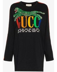 Gucci - Cities T Shirt With Tiger - Lyst