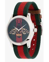 00bbdeb7786 Gucci Ya126314 Men S G-Timeless Rose Gold Alligator Leather Strap ...