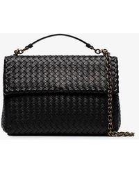 Bottega Veneta - Black Olympia Intrecciato Leather Shoulder Bag - Lyst 1142094ebab29