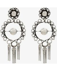 DANNIJO - Hoop Earrings With Tassels - Lyst