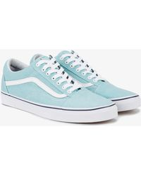 Vans - Washed Blue Old Skool Trainers - Lyst