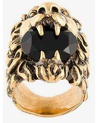 Gucci - Brass Classic Lion Head Ring, Size: K 1/2 - Lyst