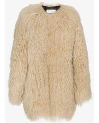Saint Laurent - Mongolian Fur Coat - Lyst