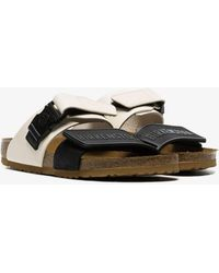 b4f1b9e52f98 Rick Owens - Black And White X Birkenstock Babel Sandals - Lyst