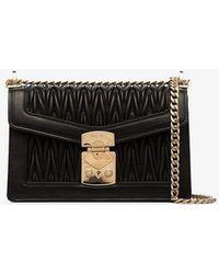 Miu Miu - Black Matelassé Leather Shoulder Bag - Lyst