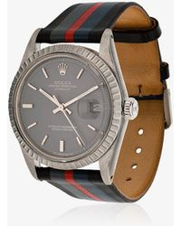 La Californienne - Ether Comet Rolex Oyster Perpetual Datejust Leather Watch - Lyst