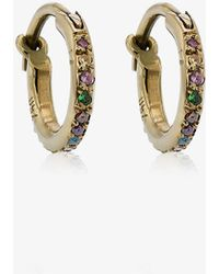 mini rose gold and sapphire hoops - Metallic Ileana Makri W94CKAor