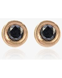 Jelena Behrend - Bullet Tube And Diamond Stud Earrings - Lyst