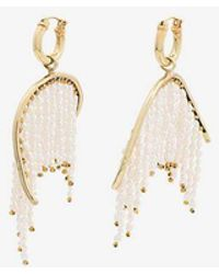 Ellery - Enim Beaded Gold-tone Earrings - Lyst