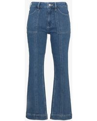 Ganni - Flat Pockets Cropped Flared Jeans - Lyst