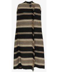 Isabel Marant - Huan Striped Wool Poncho Coat - Lyst