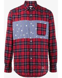 Uniform Experiment - Checked Star Panel Shirt - Lyst