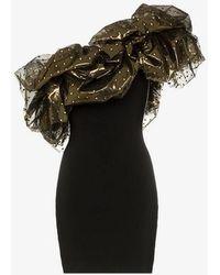 Alexandre Vauthier - One Shoulder Detail Mini Dress - Lyst