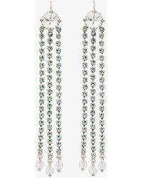 Miu Miu - Dangling Crystal Earrings - Lyst