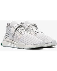 adidas - Grey Eqt Bask Adv Trainers - Lyst