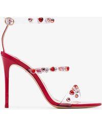 83691a30078 Sophia Webster - Lollipop Red Rosalind 100 Gemstone Vinyl Strap Leather  Sandals - Lyst