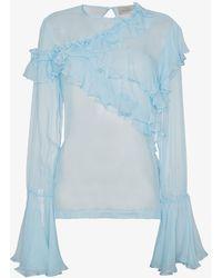 Preen By Thornton Bregazzi - Marika Ruffled Silk Blouse - Lyst