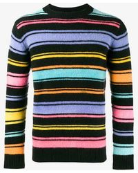 The Elder Statesman - Crazy Stripe Painted Jumper - Lyst