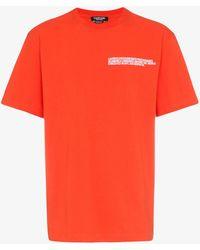 CALVIN KLEIN 205W39NYC Logo Address T-shirt - Orange