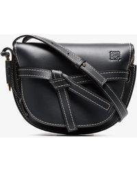 Loewe - Blue Gate Small Leather Shoulder Bag - Lyst