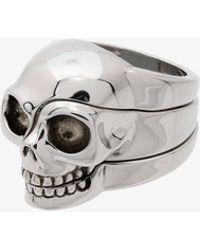 Alexander McQueen | Divided Skull Ring | Lyst