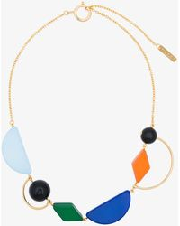 Marni - Multicoloured Piccoli Resin And Metal Necklace - Lyst