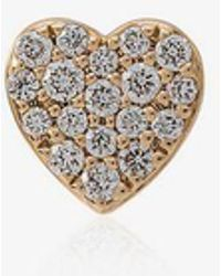 Loquet London - Diamond Heart Stud - Lyst