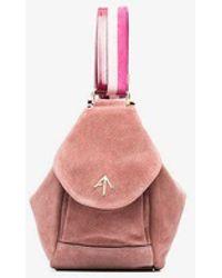 MANU Atelier - Pink Fernweh Mini Suede Tote - Lyst