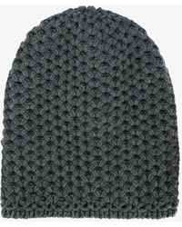 Inverni - Chunky Wool Knit Beanie - Lyst