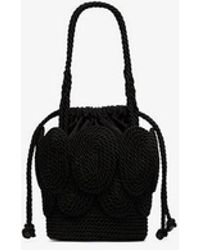 Mehry Mu - Black Cha Cha Straw Shoulder Bag - Lyst