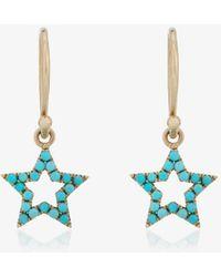 Rosa De La Cruz - Turquoise Star Earrings - Lyst