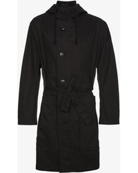 Ann Demeulemeester - Grise Belted Parka Coat - Lyst