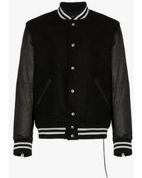 Mastermind Japan - Mastermind World Logo Embellished Leather Varsity Jacket - Lyst