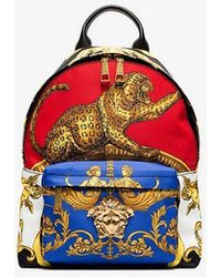 Versace - Multicoloured Baroque Printed Backpack - Lyst