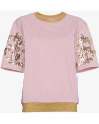Dries Van Noten - Palm Tree Motif T-shirt - Lyst