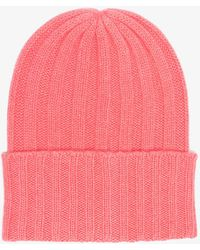 The Elder Statesman - Pink Cashmere Ribbed Knit Beanie - Lyst