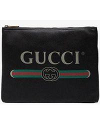 Gucci - Print Leather Medium Portfolio - Lyst