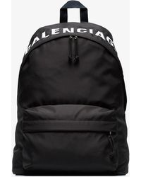 Balenciaga - Black And White Bal Wheel Backpack - Lyst
