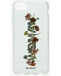 Off-White c/o Virgil Abloh - Flowers Iphone X Cover In Clear Synthetic Material - Lyst