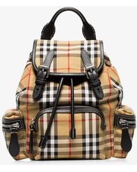 Burberry - The Small Rucksack In Vintage Check And Leather - Lyst