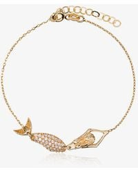 Anton Heunis | 18k Yellow Gold Mermaid Diamond Bracelet | Lyst