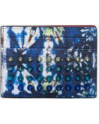 Christian Louboutin - Blue Kios Leather Cardholder - Lyst