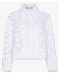 Alaïa - Lace Cropped Jacket - Lyst