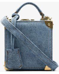 Natasha Zinko Blue Stonewashed-denim Cross Body Bag