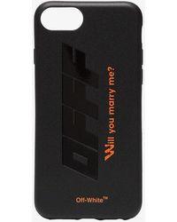 Off-White c/o Virgil Abloh - Black And Orange Quote Print Iphone 8 Pvc Phone Case - Lyst
