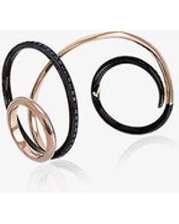 gaelle khouri contortion black diamond ring lyst