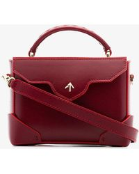 MANU Atelier - Red Micro Bold Leather Cross-body Bag - Lyst