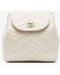 a26070746941 Gucci GG Marmont Matelassé Backpack Leather Black in Black - Lyst